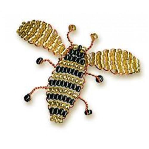 увеличить.  Набор для плетения из бисера Пчела.