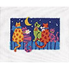 """Набор для вышивания """"Полуночные кошки"""""""