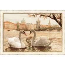 Набор для вышивания  1364 Лебеди Праги
