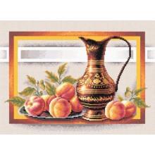 """Н-0295 Набор для вышивания """"Натюрморт с персиками"""""""