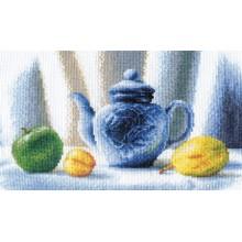 """Н-0401   Набор для вышивания """"Синий чайник"""""""